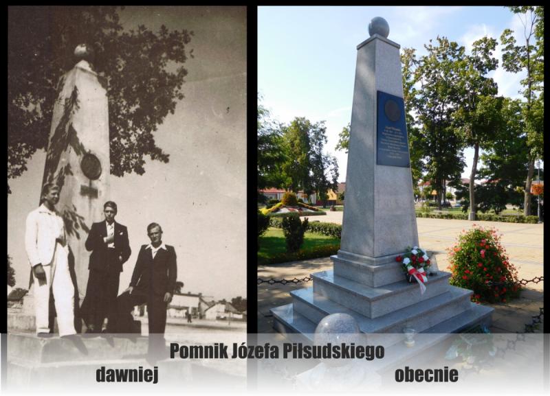 Pomnik-Pisudskiego-dawniej-i-wspoczenie